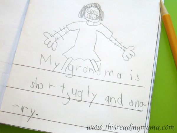 writing silly sentences with adjectives