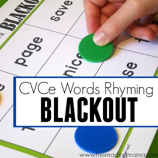 CVCe Words - Rhyming Word Blackout