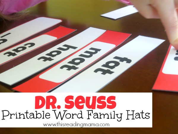 Dr. Seuss Printable Word Family Hats {FREE} | This Reading Mama