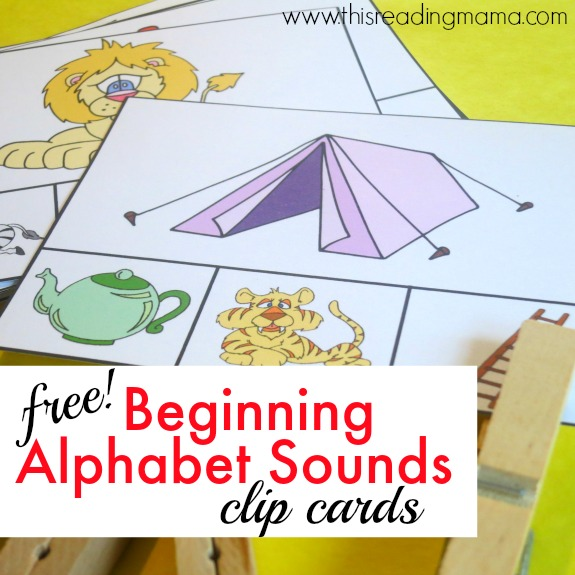 FREE Beginning Alphabet Sounds Clip Cards - Clip the Sound that Doesn't Belong