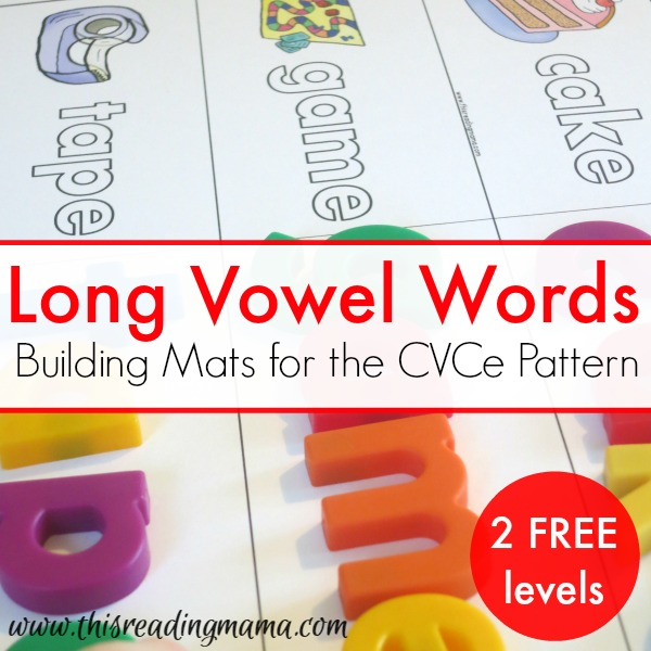 FREE Long Vowel Words - Building Mats for CVCe Words
