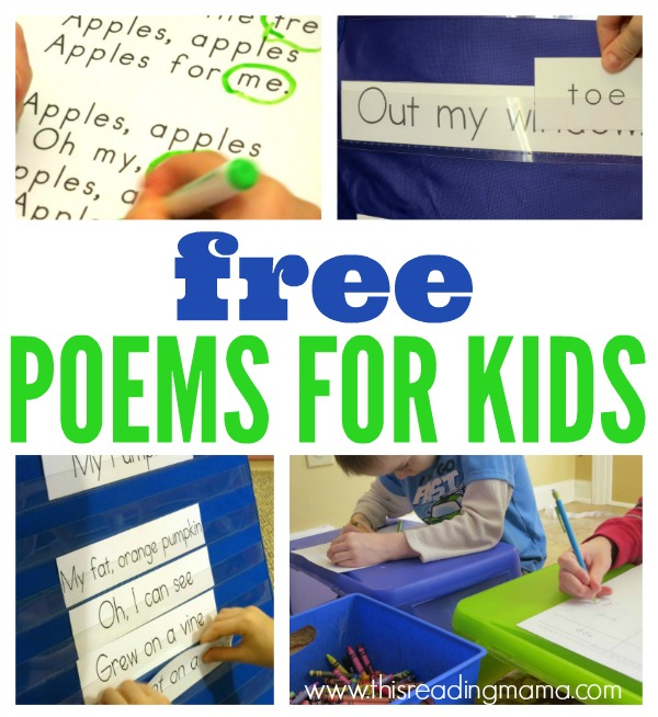 FREE Poems for Kids - This Reading Mama