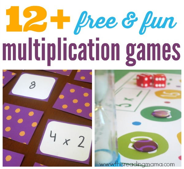 12 Free Multiplication Games For Kids