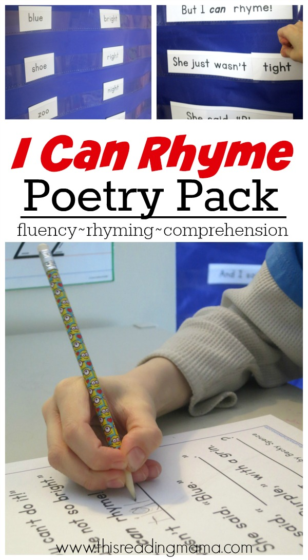 I Can Rhyme- FREE Rhyming Poetry Pack - This Reading Mama