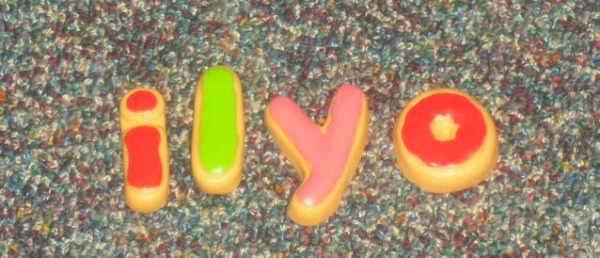 """I love you,"" spelled independently by my 4 year old."
