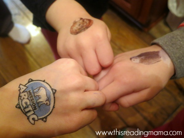 Junior Explorer tattoos of animals in the Arctic