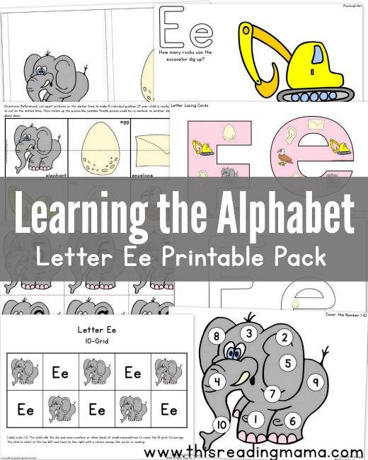 image regarding Letter E Printable named Understanding the Alphabet: Letter E Printable Pack