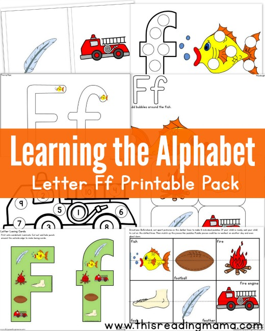 Learning the Alphabet FREE Letter F Printable Pack | This Reading Mama