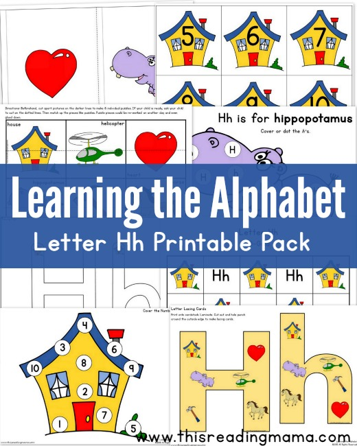 Learning The Alphabet   FREE Letter H Printable Pack   This Reading Mama