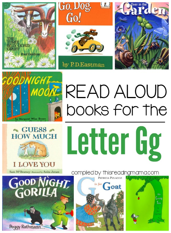Letter G Books Read Alouds for the Letter G