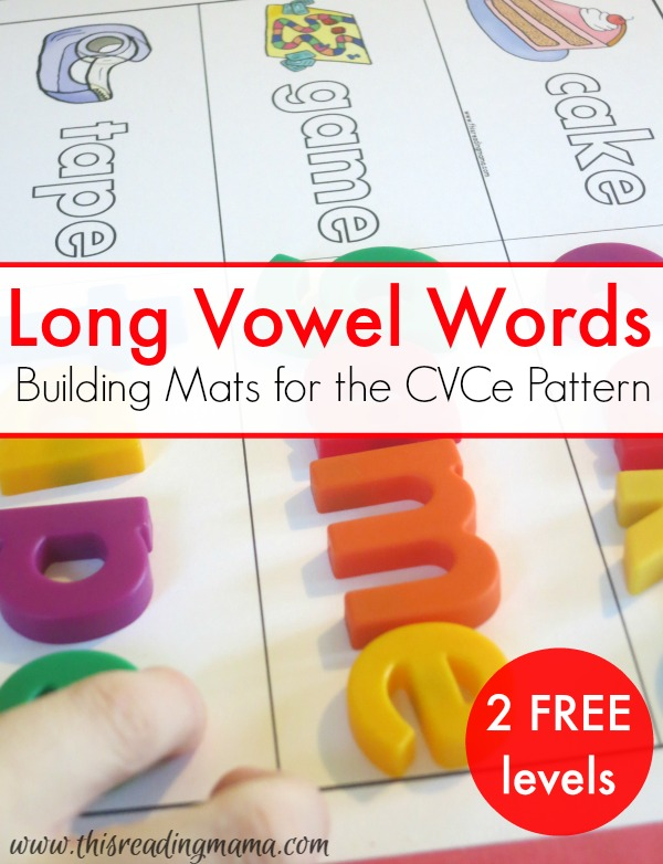 Long Vowel Words - FREE Building Mats for the CVCe Pattern