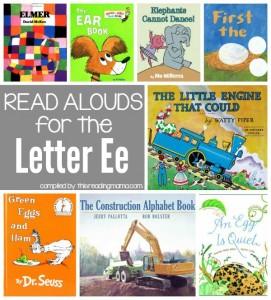 Read Aloud Books for the Letter E - Letter E Book List
