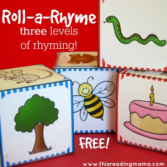 Roll a Rhyme - Rhyming Pack with THREE levels of learning