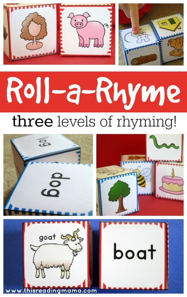 Roll a Rhyme with Three Levels of Rhyming Fun - This Reading Mama
