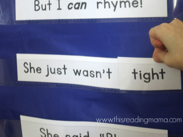 changing out the rhyming words of the poem