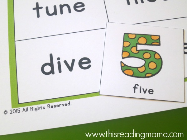 dive-five CVCe words that rhyme