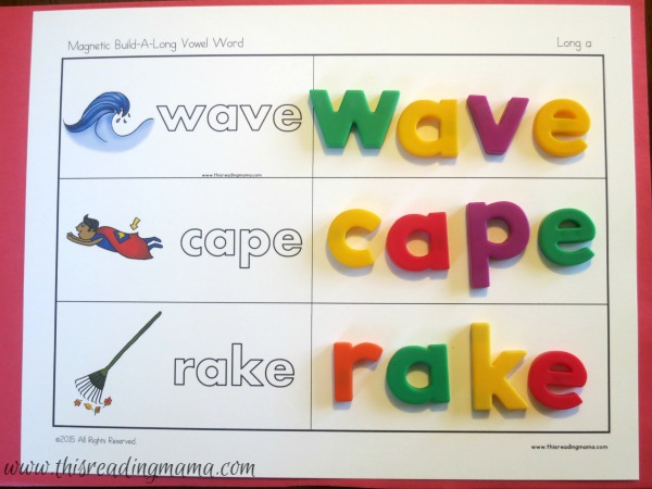 level 1 building mats for long vowel words