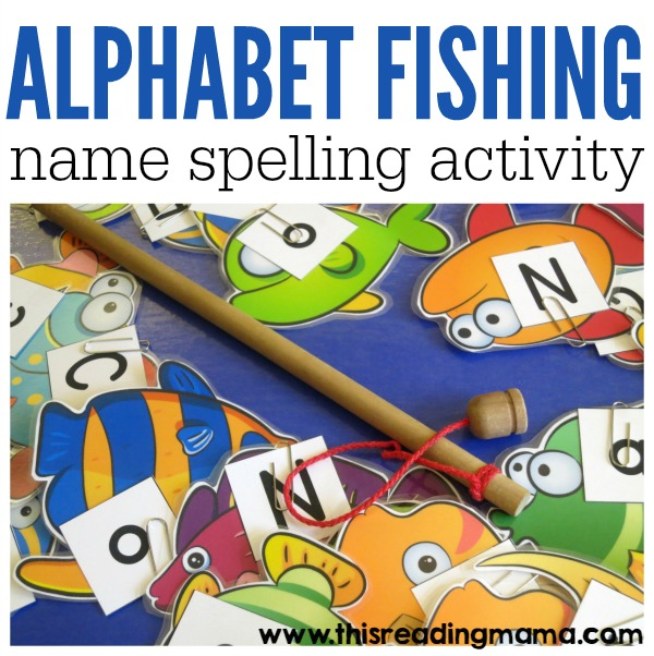Alphabet Fishing - a name spelling activity from This Reading Mama