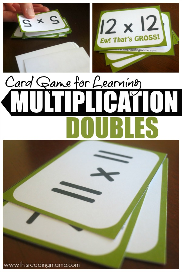 Card Game for Learning Multiplication Doubles - This Reading Mama