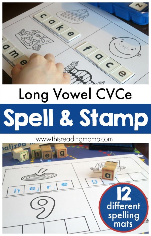 FREE Long Vowel CVCe Spell & Stamp Mats - This Reading Mama