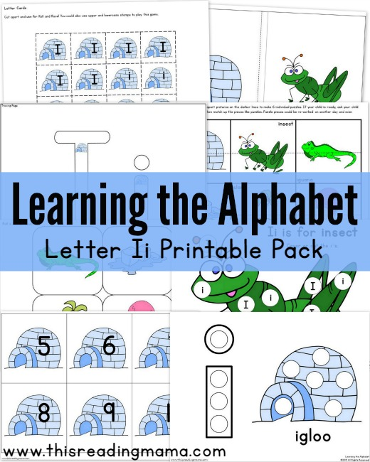 Learning the Alphabet - FREE Letter I Pack | This Reading Mama