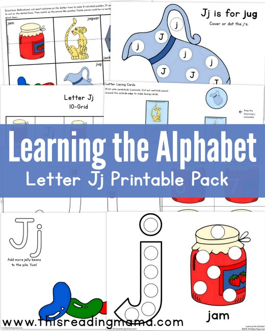 Learning the Alphabet - FREE Letter J Pack | This Reading Mama
