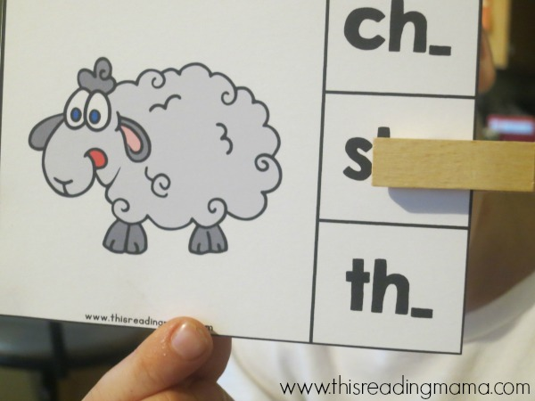 beginning digraph clip cards - SHEEP