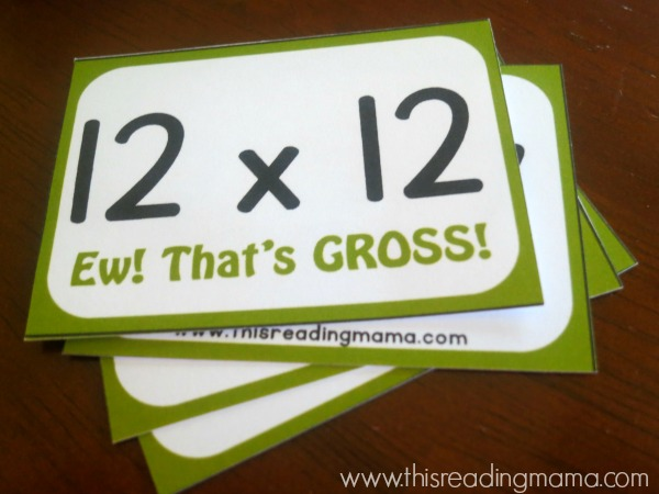 multiplication doubles card game - thats gross
