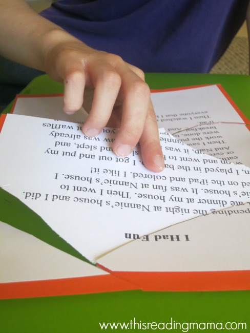 publishing a story and making it into a puzzle - great idea from WriteShop