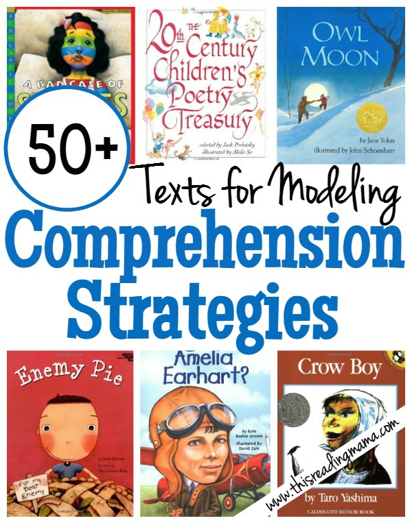 Modeling Comprehension Strategies Book List - This Reading Mama