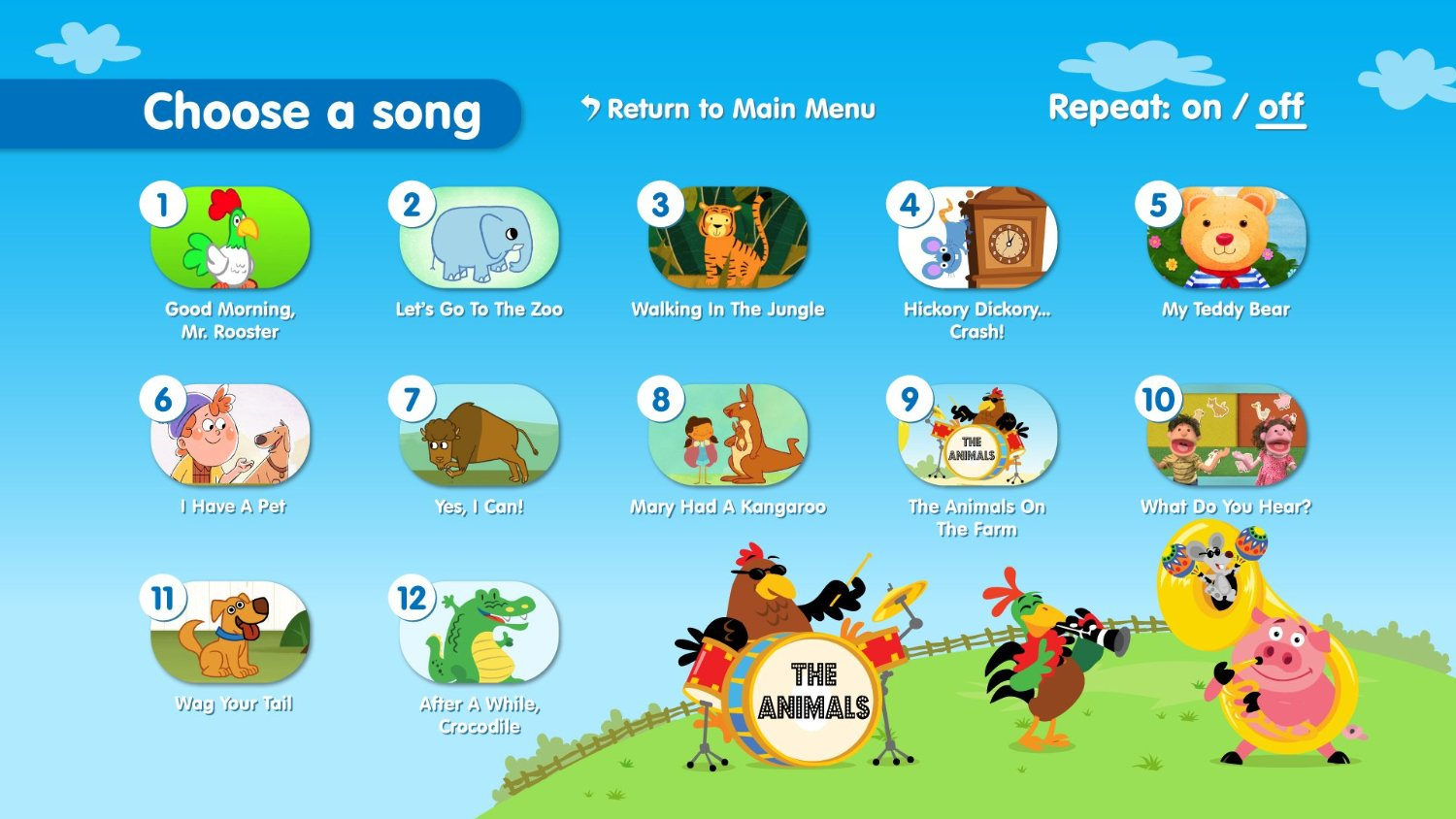 Songs from Super Simple Songs Animals DVD