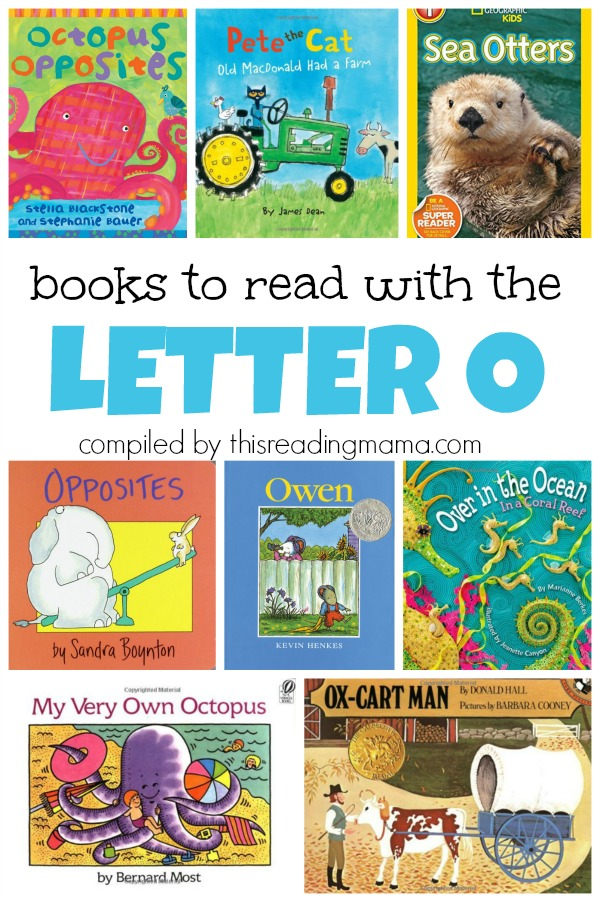 Book List for the Letter O - books to read with the letter O - This Reading Mama