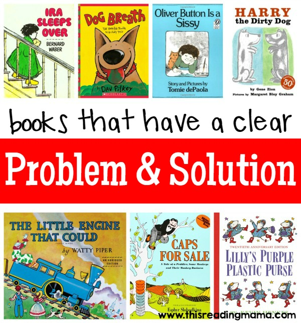 Books that Have a Clear Problem and Solution Text Structure complied by This Reading Mama