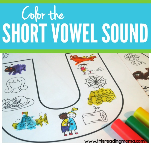 Color the Short Vowel Sound - FREE Coloring Pages - This Reading Mama