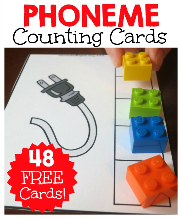 FREE Phoneme Counting Cards - This Reading Mama