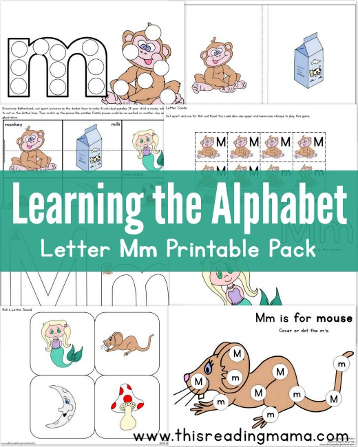 Learning the Alphabet – Letter M Printable Pack