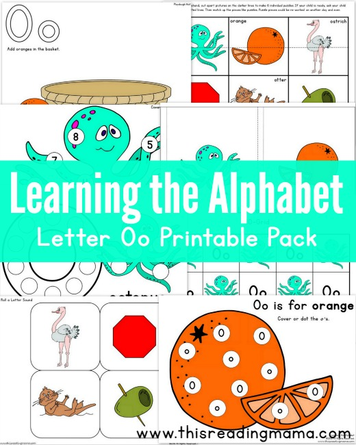 Learning the Alphabet - FREE Letter O Printable Pack - This Reading Mama