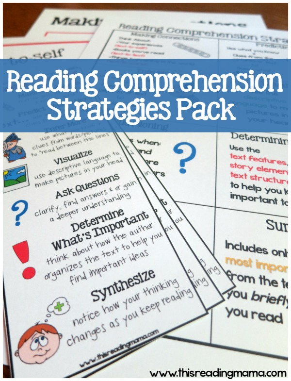 Comprehension Strategies Printable Pack {Subscriber Freebie}