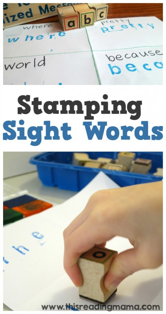 Stamping Sight Words - SO Simple - This Reading Mama