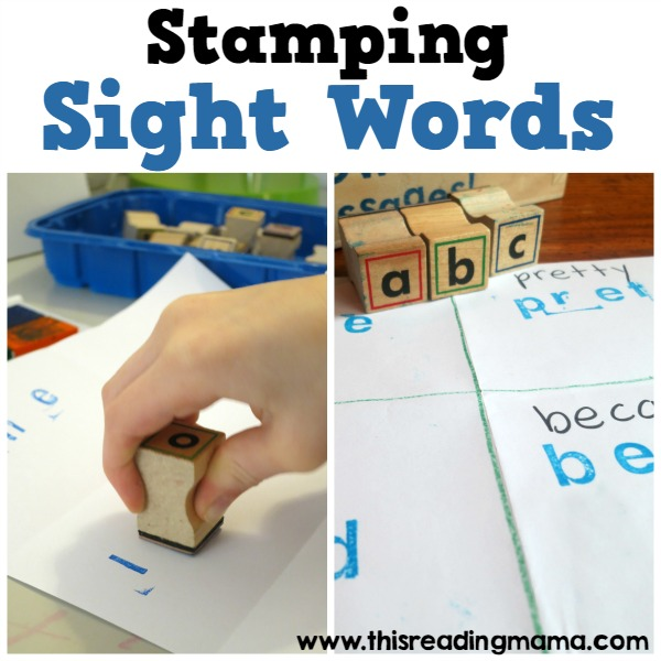Stamping sight words low prep and easy this reading mamag sciox Image collections
