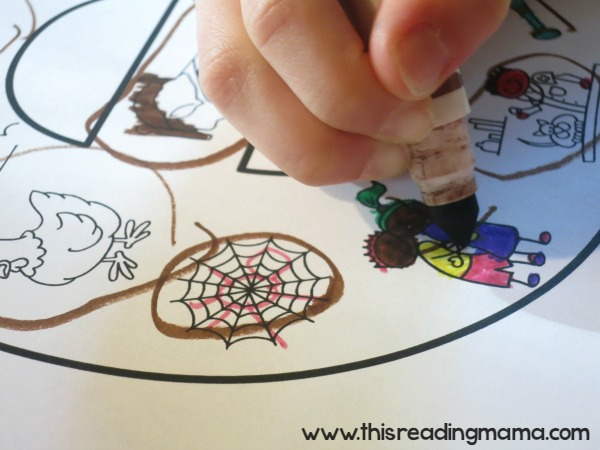 correcting the short vowel sound coloring sheet together