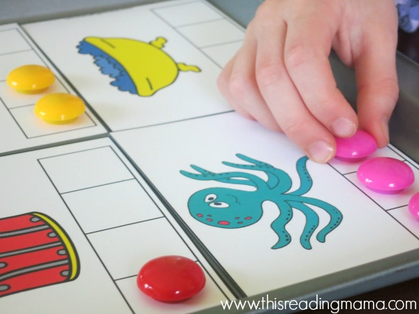 counting syllables with syllable counting cards