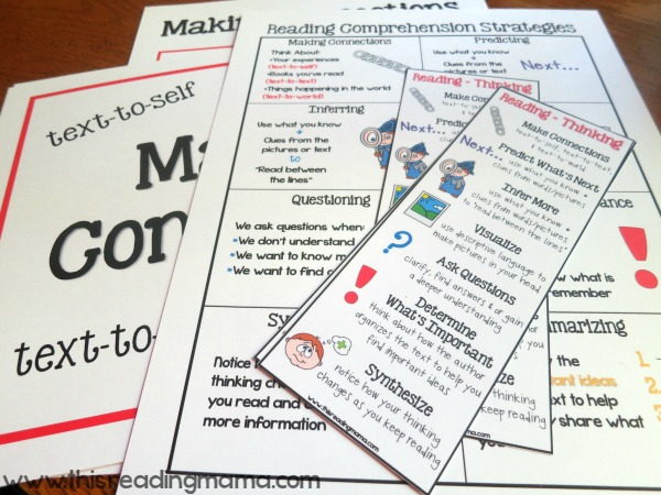 reading comprehension printable pack - a subscriber freebie