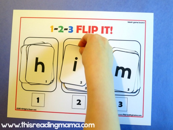 1-2-3 Spell It and Flip It for Short Vowels