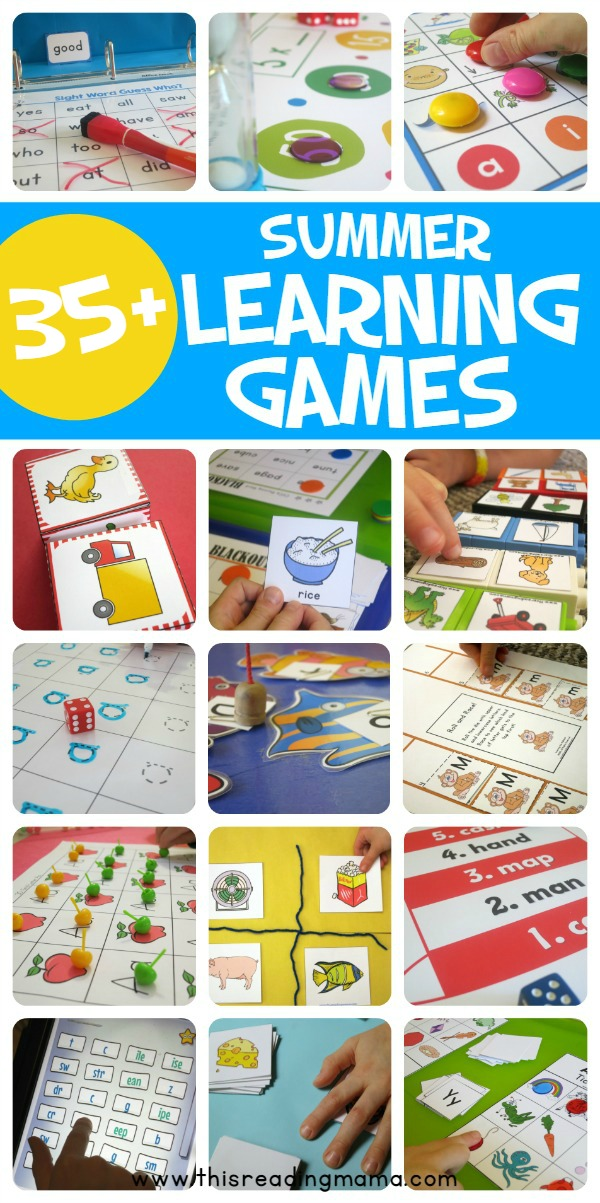 35+ Summer Learning Games