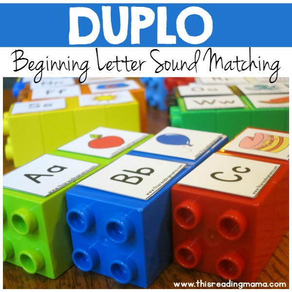 DUPLO Beginning Letter Sound Matching - This Reading Mama