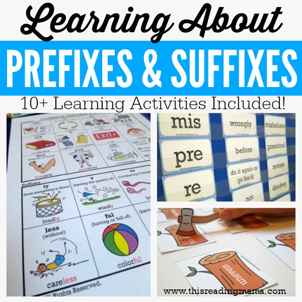 Learning About Prefixes and Suffixes - 10+ FREE Learning Activities - This Reading Mama