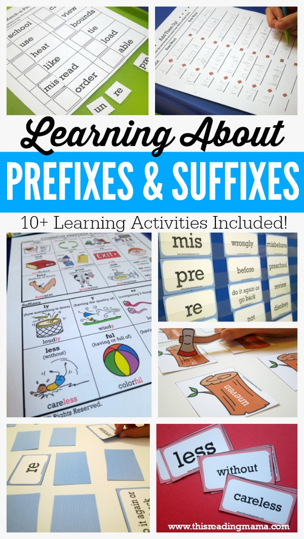 Learning About Prefixes and Suffixes {FREE Learning Pack} - This Reading Mama