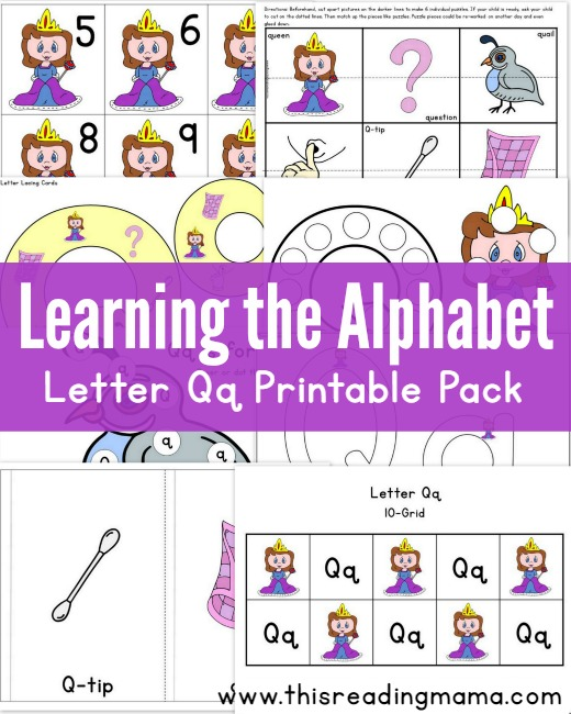 photograph about Letter Q Printable named Studying the Alphabet: Cost-free Letter Q Printable Pack - This
