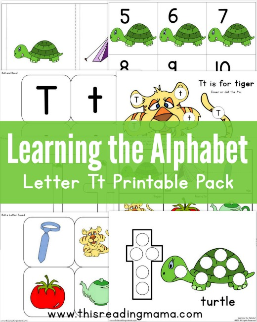 graphic relating to Letter T Printable called Mastering the Alphabet - Free of charge Letter T Printable Pack